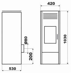 Poêle à granulée de boisPenmen 11 kW Ivoire - DEVILLE - C07723.02-DA