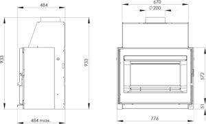 Insert contemporain Bijou 77 Vision 15 kW - DEVILLE - C07931.PT06