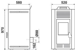Poêle à granulée de boisAilly 7,2 kWIvoire - DEVILLE - C07707.02-DA
