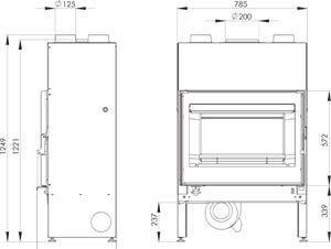 Foyer contemporain Bijou 77 Monobloc 15 kW - DEVILLE - C07932.PT06